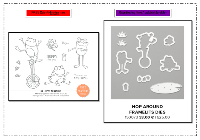 Nigezza Creates Stampin' Up! So Hoppy and Hop Around Framelits