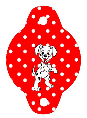 101 Dalmatians in Red and Black, For the straws