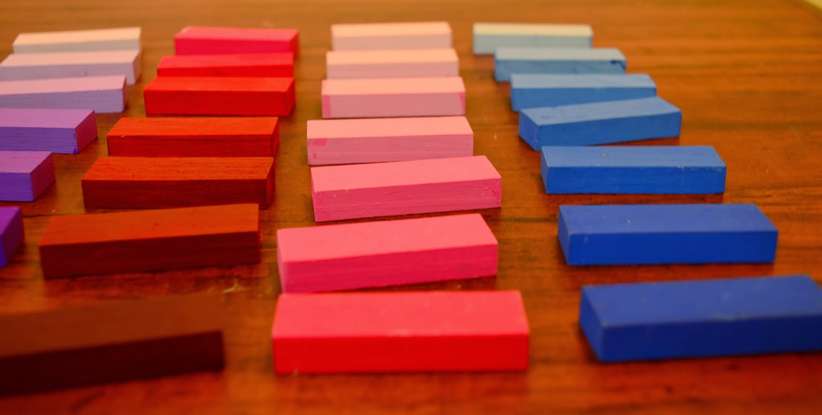 The Practical Mom: DIY Montessori Color Tablets, with Jenga Blocks