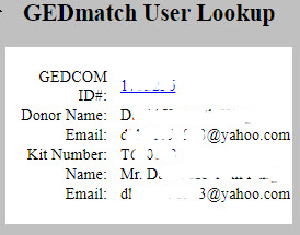 GEDmatch user