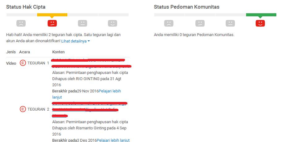 pelanggaran hak cipta youtube