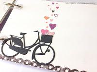 serca serduszka wykrojnik rower rowerek z papieru album księga gości pamiętnik notes handmade galeria schaffar