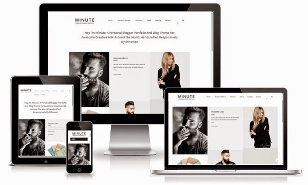 Top 10 Template Blog Responsif 7. Minute Responsive Blogger Template
