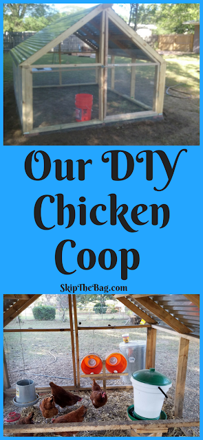 Our DIY Chicken Coop. Perfect for warm weather chicken raising!
