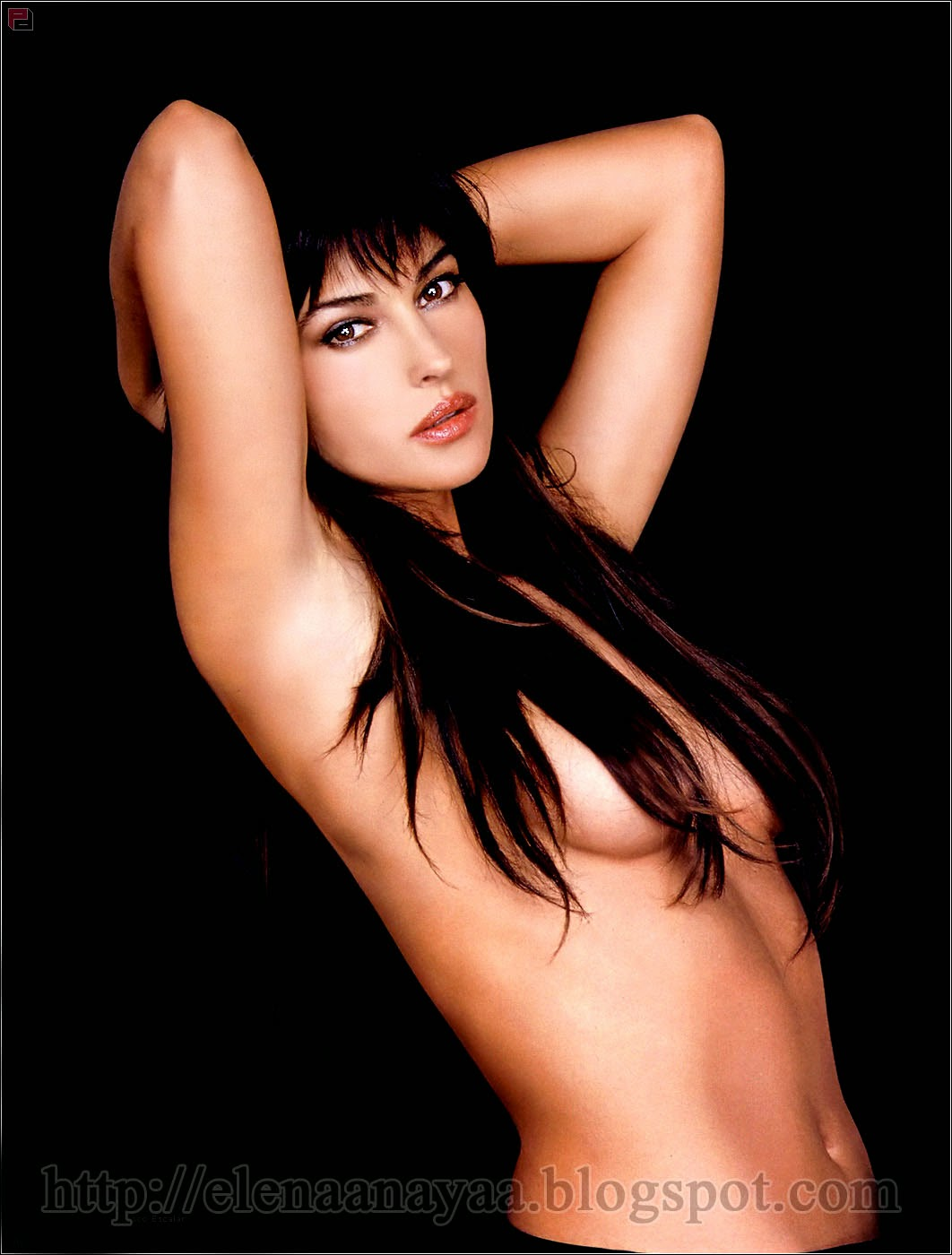 Monica Bellucci Tits Covering By Long Hairs