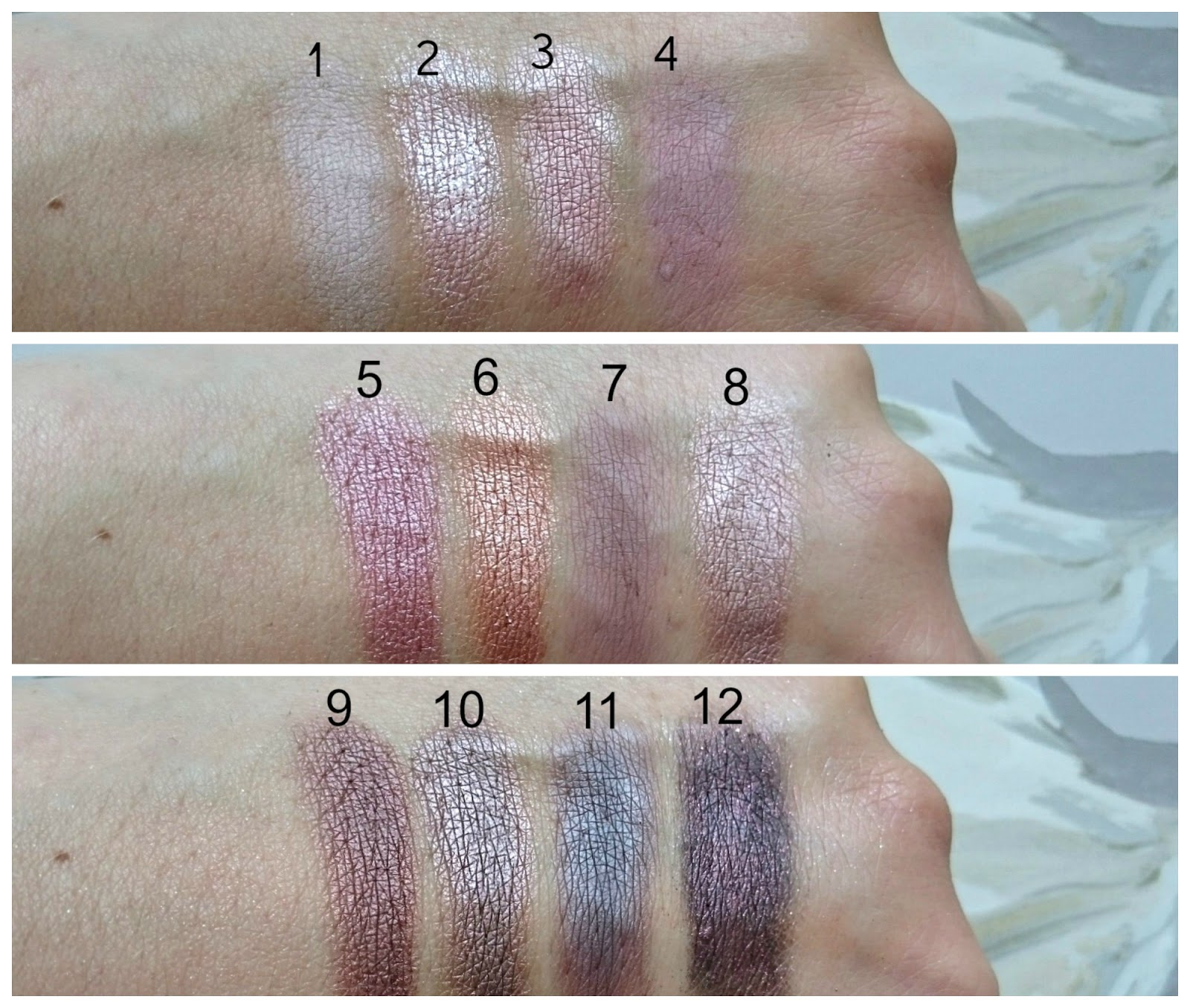 Freedom Makeup Audacious 3 palette swatches