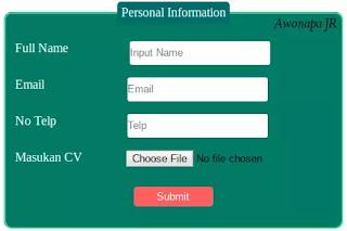 Form Keren HTML dan CSS