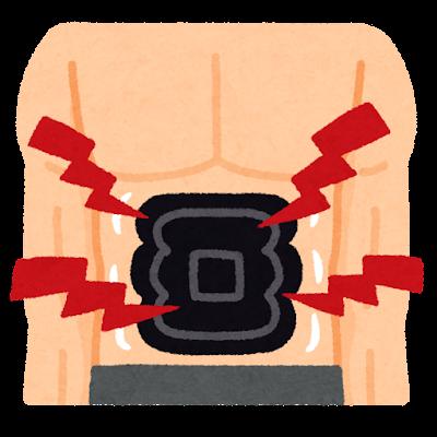 電動の腹筋ベルトのイラスト