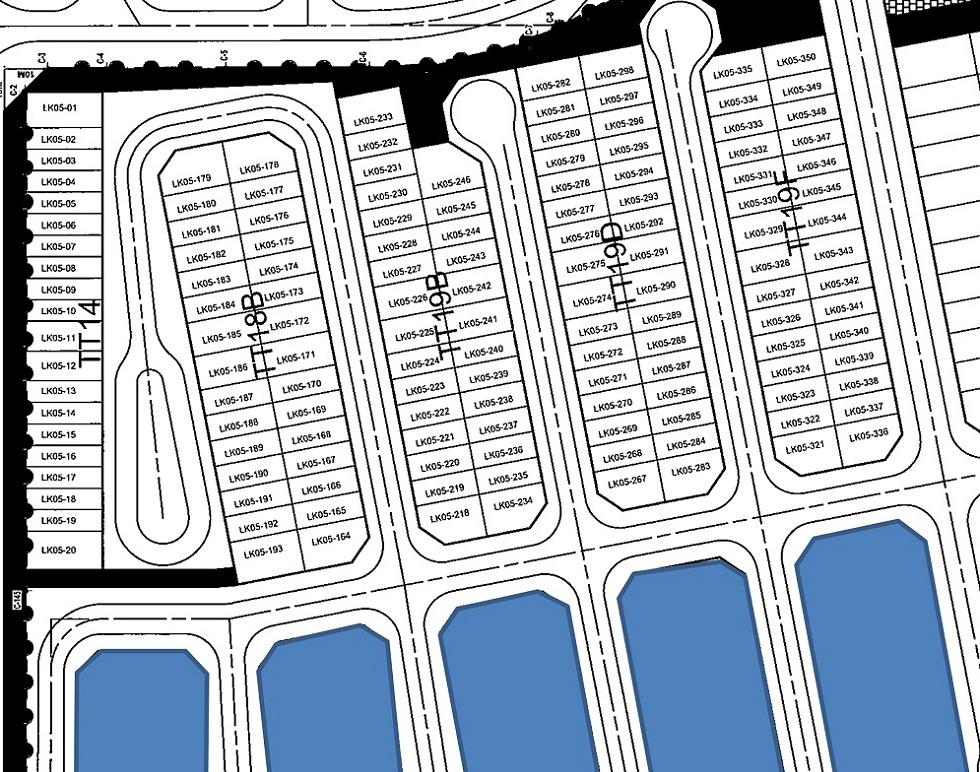 Bản đồ phân lô Liền Kề Dahria Gamuda Giai Đoạn 1
