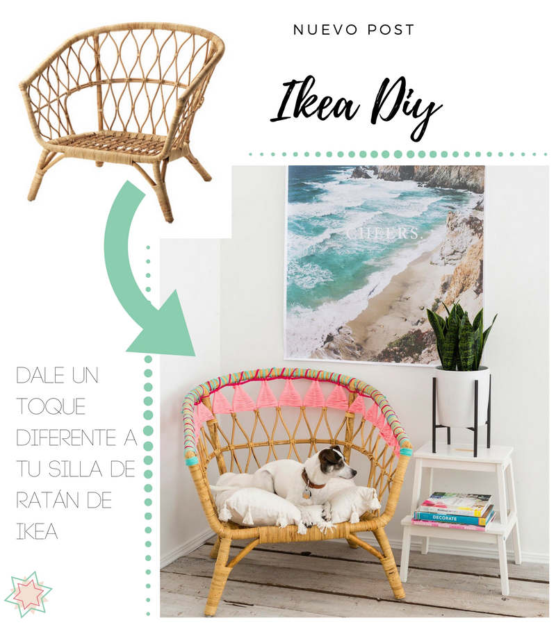 nuevo post silla ratán hacks diy STOCKHOLM ikea customizar trapillo summer