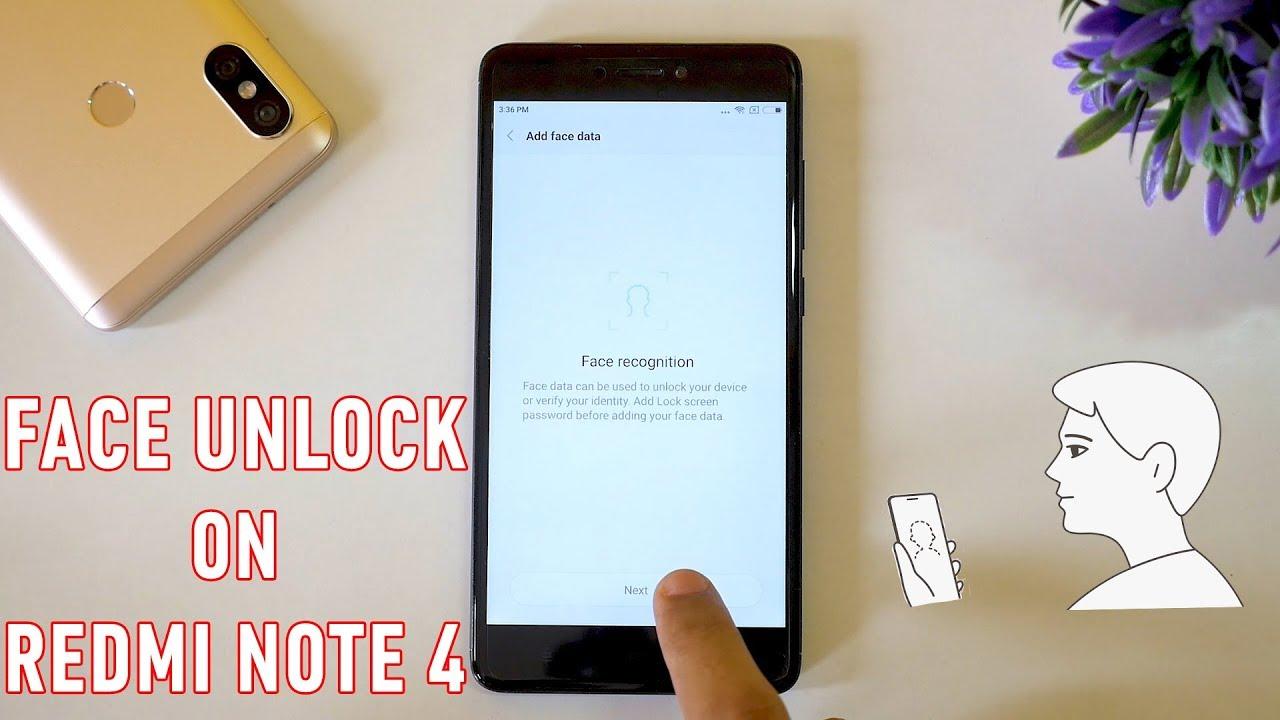 redmi note 4 face unlock