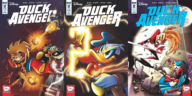 IDW's Duck Avenger #2 - all cover variants