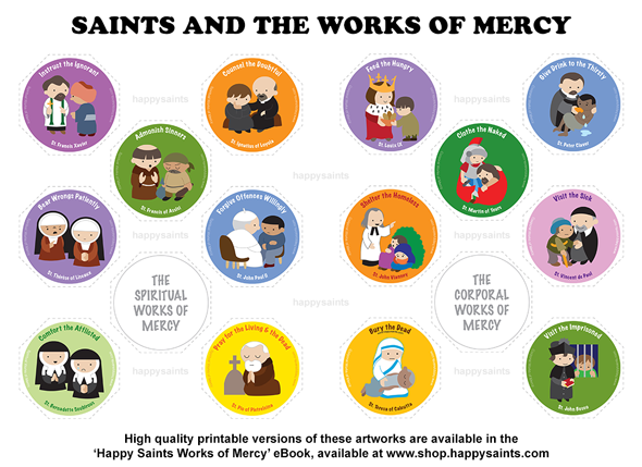 Happy saints 2016 how do you plan to celebrate all saints day in this year of mercy how about showcasing saints performing the corporal spiritual works of mercy fandeluxe Image collections