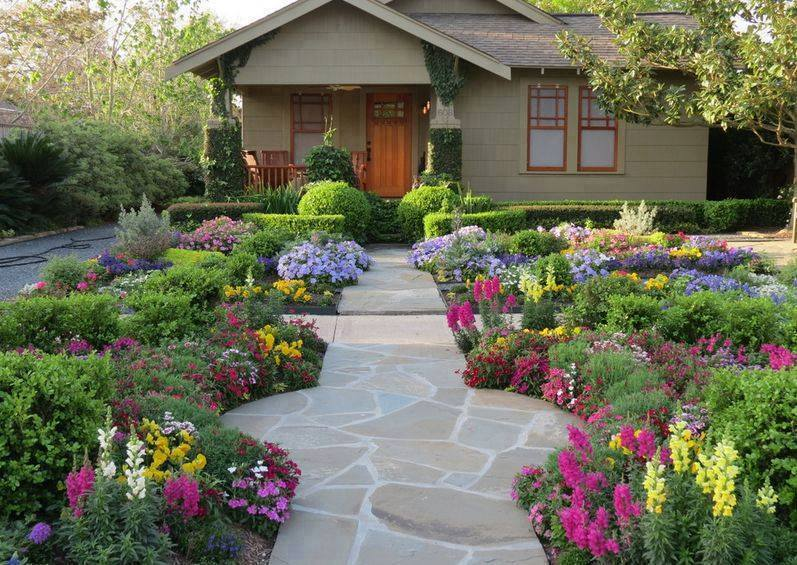 Front yard walkways landscaping ideas 2016 that will for Front lawn plant ideas
