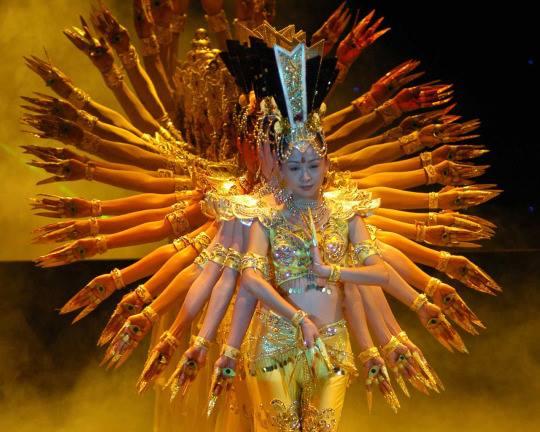 Thousand-hand Bodhisattva dance In china