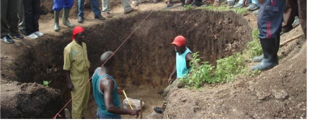 Digging of Biogas Pit