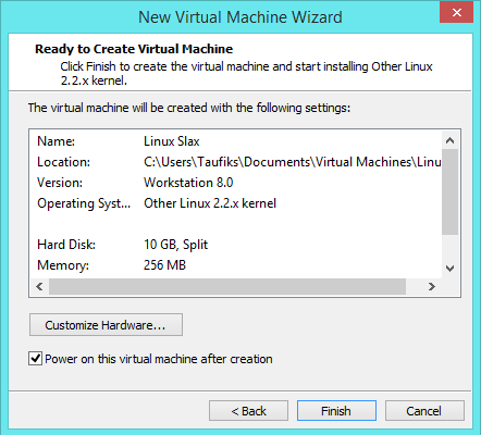 Cara Installasi Linux Slax Via VMware Workstation 10