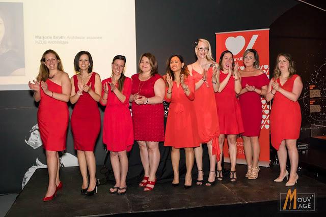 Neuf ambassadrices de la soirée Robe rouge de Laval