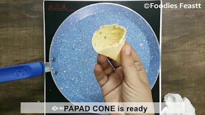 Papad Cones / Stuffed Papad Cones / A Perfect Party Snack