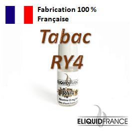 E-Liquide Tabac RY4 ELIQUID FRANCE 100 % Français sur Top Cigarette Electronique