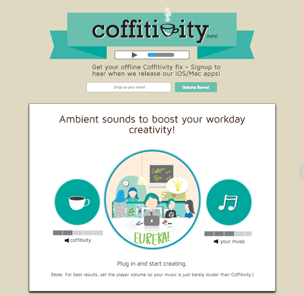 Coffitivity - ambient coffee shop sounds that help boost creativity
