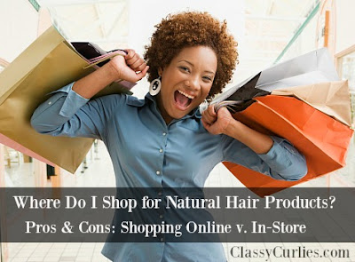 Shopping for natural hair products