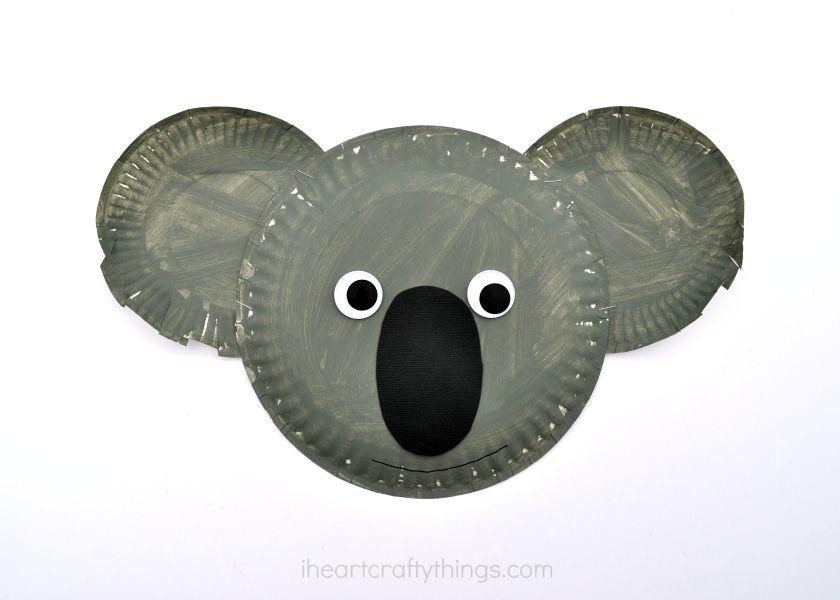 Paper Plate Koala Kid Craft I Heart Crafty Things