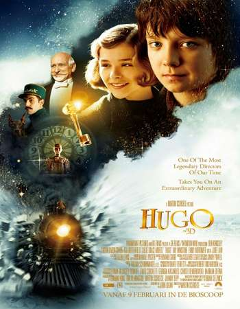Poster Of Hugo 2011 Hindi Dual Audio 550MB BluRay 720p ESubs HEVC Free Download Watch Online downloadhub.in