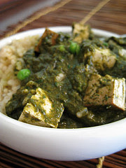 Slow Cooker Vegan Sag Paneer made with tofu; sounds delicious!  [From Everyday Maven via Slow Cooker from Scratch]