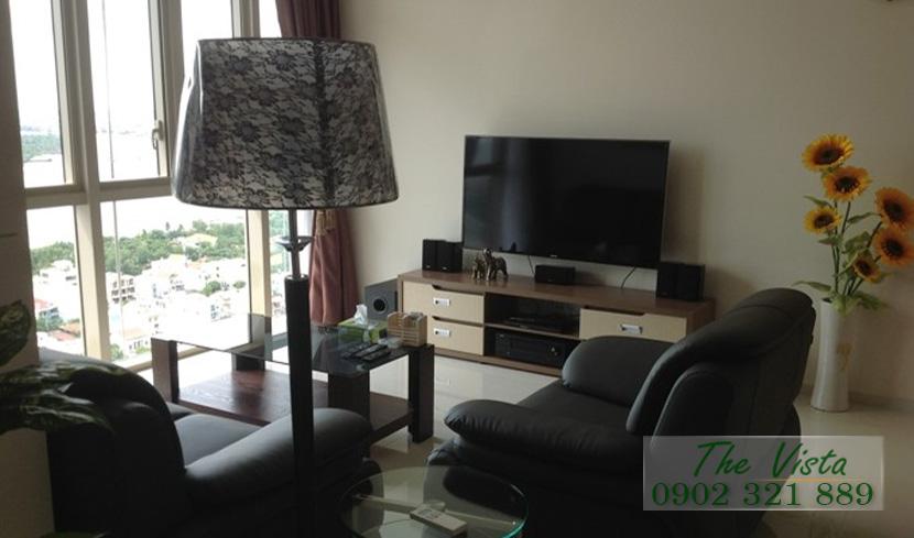 cho thuê căn hộ quận 2 - The Vista sofa phòng khách