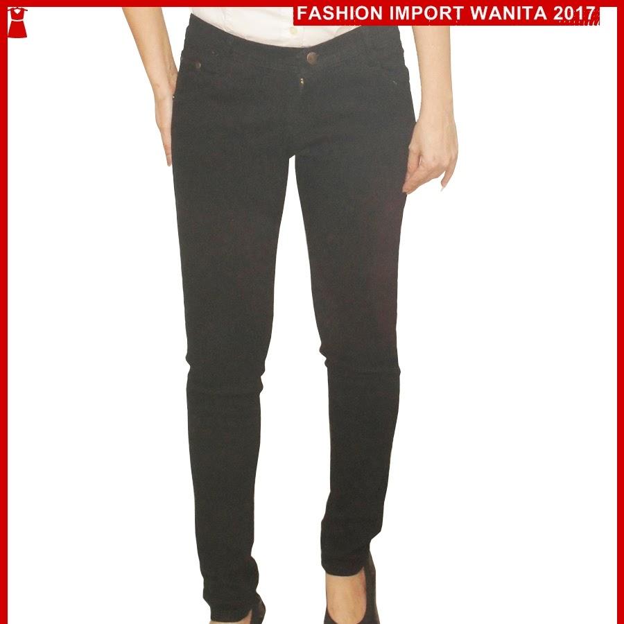 ADR167 Celana Wanita Hitam Jean Wanita Import BMG