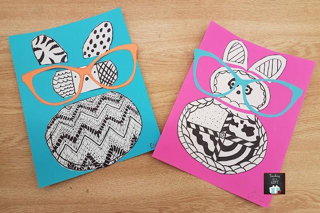 Picture of Pop Art Easter Bunny @teachingisgift.blogspot.ca