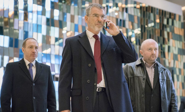 Pierce Brosnan as the British high-ranking government official, Liam in THE FOREIGNER (2017)