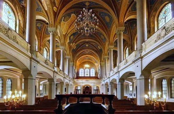 Interior de La Gran Sinagoga (Pilsen, República Checa)