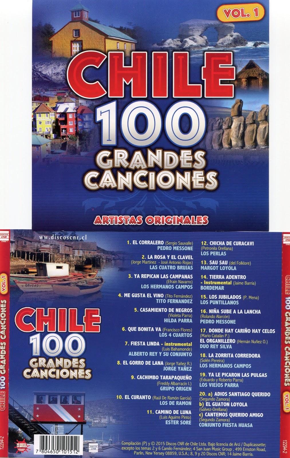 cd 100 grandes canciones de Chile Cd 1 Vol1