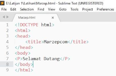 Cara membuat HTML dengan Sublime Text