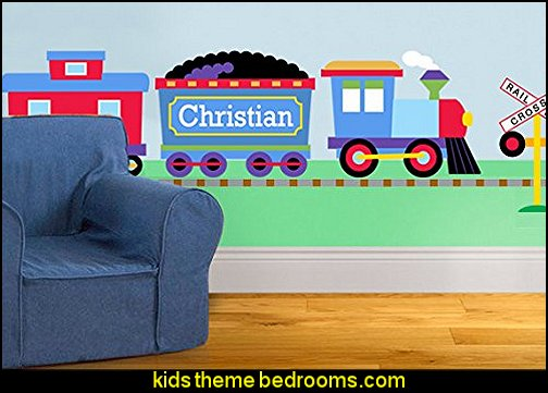 Trains, Planes and Trucks Personalized Jumbo Mural