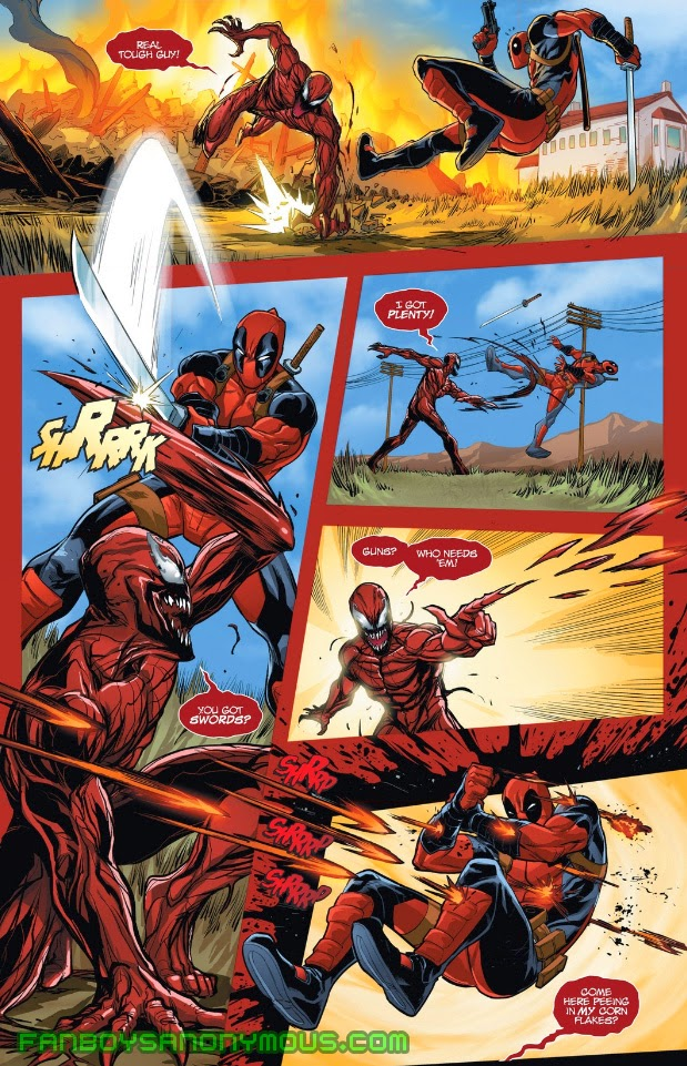 Catch up on Deadpool vs Carnage with Superior Carnage Annual available to read on the Marvel Comics app