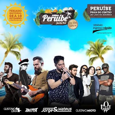 Arena Peruíbe 2017 reunirá grandes estrelas da música no feriado da Independência