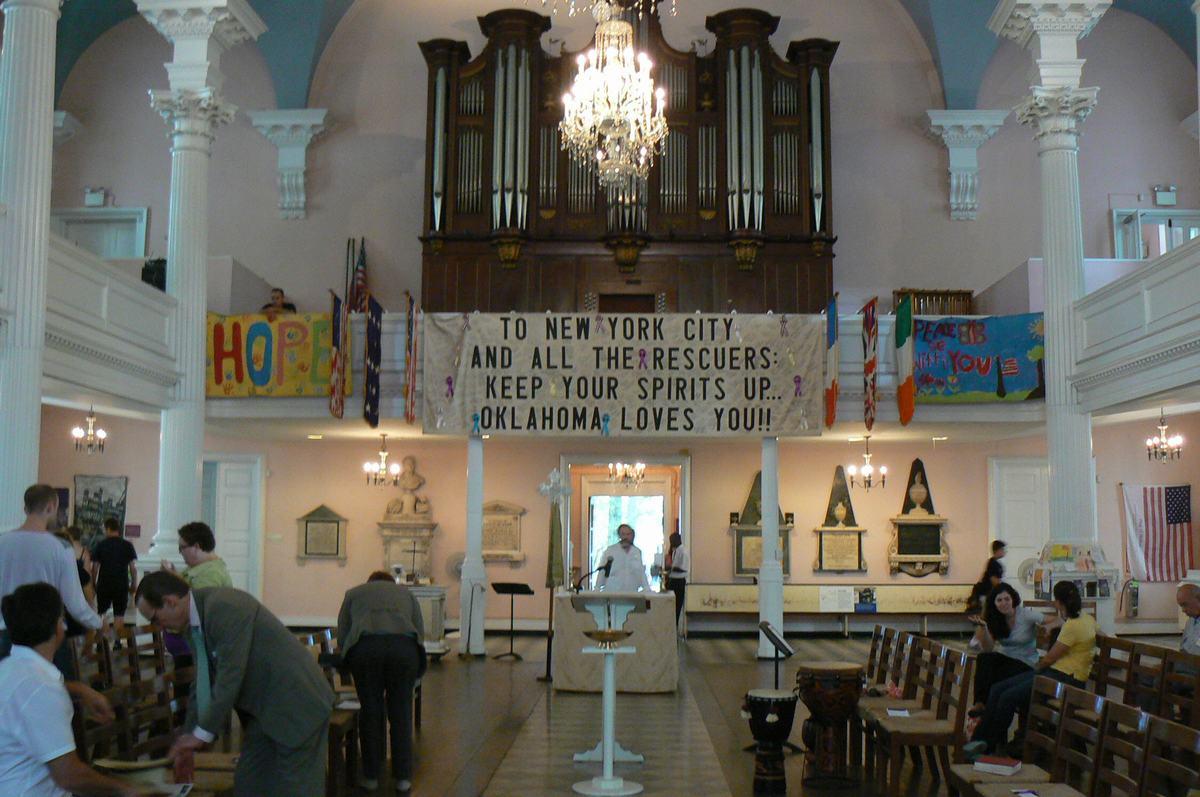 homenaje victimas 11S, sant paul chapel