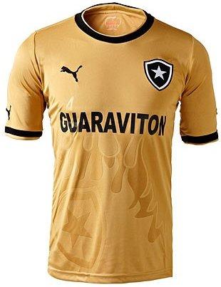 Botafogo lança camisa dourada com ação para medir a paixão da ... 10a1f43690fd6
