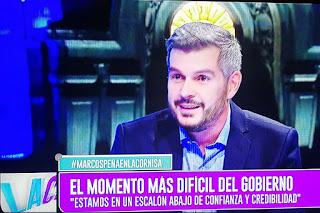 El Jefe de Gabinete se refirió al desafío económico que enfrenta el Gobierno de Mauricio Macri, entre corridas cambiarias y un comienzo de negociaciones con el FMI Crédito: Captura de TV