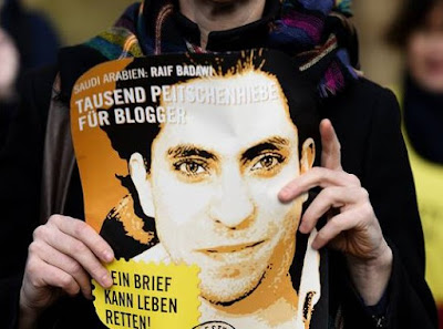 Raif Badawi: sentenced to 1,000 lashes and 10 years in jail for insulting Islam
