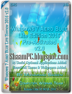 windows 7 aero blue lite edition x86 2016 v2 0 free download shaam pc. Black Bedroom Furniture Sets. Home Design Ideas