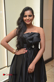 Actress Manasa Himavarsha Pictures in Black Short Dress at The Great Hydrerabad Life Style EXPO II  0049.JPG