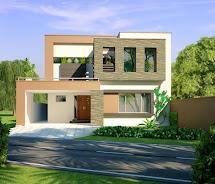 3d Front 10 Marla Modern Home Design