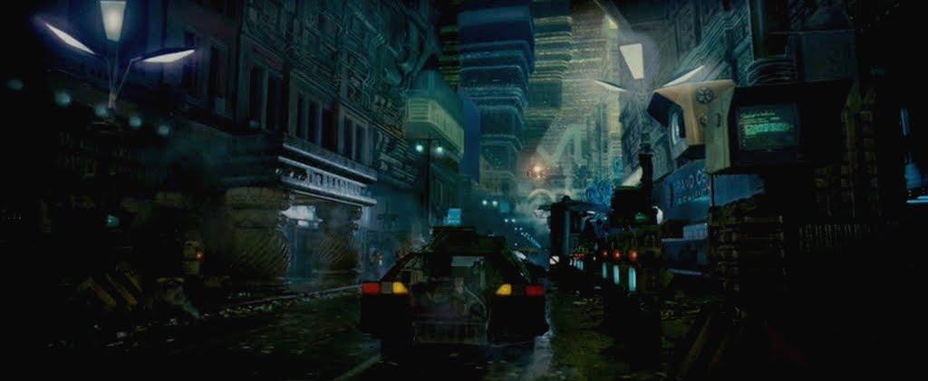 Una visión de una calle desierta en el Los Ángeles de Blade Runner