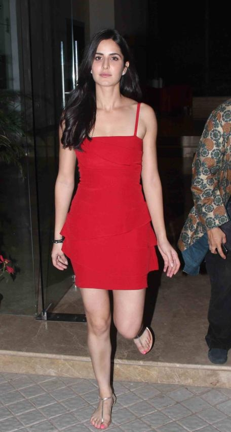 Katrina Kaif Cute Photos In Red dress