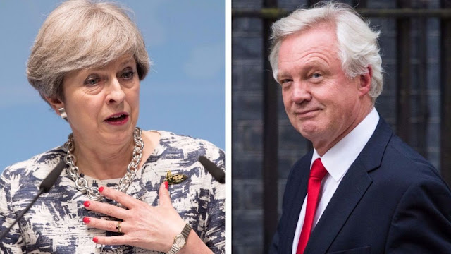 David Davis resignation letter and Theresa May's response