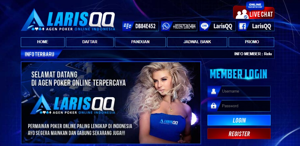 LarisQQ Bandar Judi Poker Online Terbesar